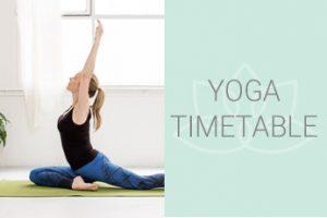 kundalini yoga timetable