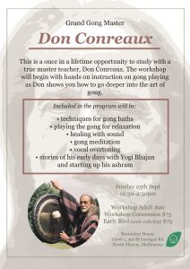 don conreaux gong workshop melbourne