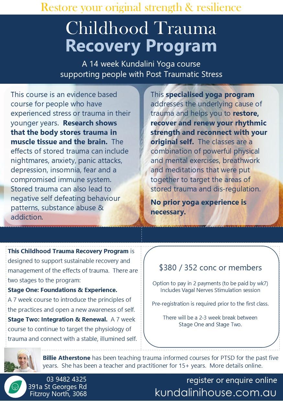 Trauma recovery course